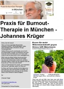 Titelseite Magazin BurnoutPraxis München